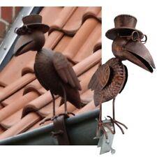 920656 Zaunhocker Vogel Metall Gartenfigur Zaundeko Zaunsitzer Gartendeko