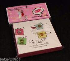 Tie One On Pups 'N Kittens Wine Glass Charms & Stemware Baubles w/ Coasters 8 pc