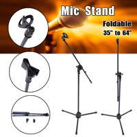 USA 360-Degree Rotating Microphone Stand Mic Clip Boom Arm Foldable Tripod