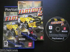 JEU Sony PLAYSTATION 2 PS2 : FLATOUT 2 / Flat Out 2 (Bugbear COMPLET envoi suiv)