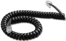 100 Black Nortel Aastra Phone Handset Coil Curly Spiral Cords 9' FT Foot NEW