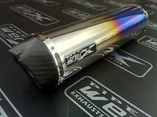 Yamaha YZF R1 07-08 Pair of Colour Titanium Round,Carbon Outlet Exhausts,Cans SL
