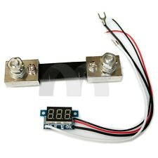 "0.36""  Blue LED Digital DC Ammeter AMP Mini Current Panel Meter DC 0-100A"