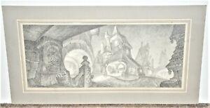Mike Hodgson Fantasy Architectural Scene Disney Artist