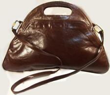 Georgeous VINTAGE Bottega Veneta High Fashion Chocolate Brown Handbag Italy