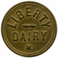Liberty Dairy Puyallup, Washington WA 1 Quart Milk Trade Token