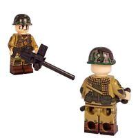 Custom Army WORLD WAR II WW2 AMERICAN 82ND AIRBORNE HEAVY GUNNER Minifigure