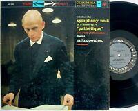 Columbia 6-EYE MS 6006 lp Tchaikovsky SYMPHONY N.6 PATHETIQUE Mitropoulos STEREO