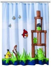 Rovio Angry Birds Microfiber Shower Curtain Or Room Divider 72inx72in