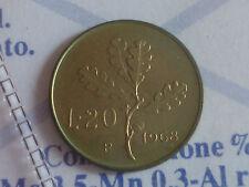 REPUBBLICA ITALIANA 20 LIRE QUERCIA 1968 RARA