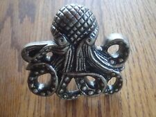 Lot 6 Pewter Metal Octopus Drawer Knobs Cabinet Pulls