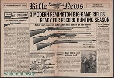 1957 REMINGTON 740 Woodmaster, 760 Gamemaster, 222 RIFLE Centerfold AD Spread