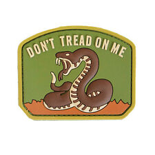 3D PVC Don't Tread On Me Military Army Tactical Airsoft Morale Patch Desert NEW