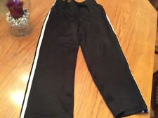 BOYS 5/6 black ATHLETIC/WARMUP PANTS WITH DOUBLE STRIPE jumping beans pull on