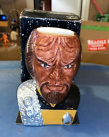 VINTAGE STAR TREK WORF FIGURAL MUG APPLAUSE 1994 NEXT GENERATION BOX No COA