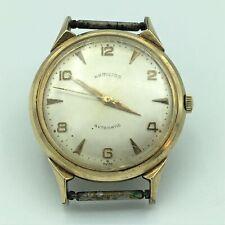 Vintage Hamilton Swiss Automatic #667 10K GF 17J Unadj Mens Wrist Watch Runs