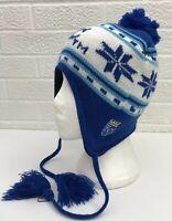 MLB Kansas City Royals Baseball Winter Hat Cap Beanie Tassels SGA Chevy Adult OS