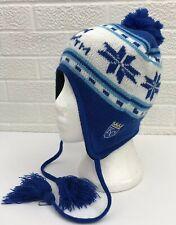 detailed look b1a41 bb44a MLB Kansas City Royals Baseball Winter Hat Cap Beanie Tassels SGA Chevy  Adult OS
