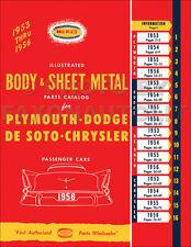 Plymouth Body Parts Book 1953 1954 1955 1956 Belvedere Savoy Plaza Cranbrook Etc