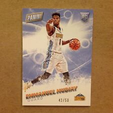 EMMANUEL MUDIAY #60 NUGGETS RC 42/50 made Thick Stock 2016 Panini Fathers Day