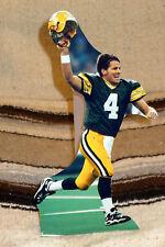 """Brett Farve Green Bay Packers Quarterback NFL Tabletop Display Standee 10"""" Tall"""