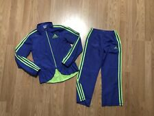 Girls Size 6X Purple/Like Green Adidas 2 Piece Tracksuit Jacket & Pants Outfit