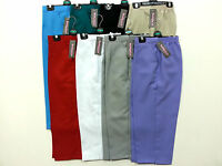 Ladies Womens Cropped Capri 3/4 Summer Half Elasticated Crop Trouser Upto 24