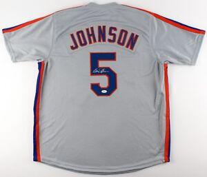 Davey Johnson Signed Mets Jersey (JSA COA) 1986 Mets World Champion Manager !