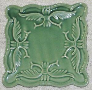 """California Pantry 2009 Green Square Embossed 6"""" TRIVET"""