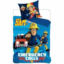 FIREMAN SAM EMERGENCY CALLS SINGLE DUVET COVER & EUROPEAN PILLOWCASE COTTON