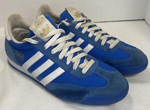 Adidas Dragon Original 3 Stripe Blue Suede Trainer Retro Sneakers Mens Size 12
