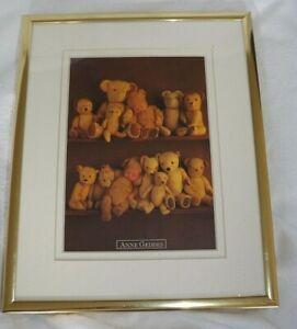 ANNE GEDDES Teddy Bears Anastasia & Tate Double Matted Art Nursery Framed Print