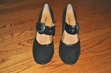 Womens DOLLHOUSE Black Suede Leather Heels Shoes Size 10 M