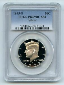 1995 S 50C Silver Kennedy Half Dollar Proof PCGS PR69DCAM