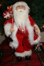 "Standing 16"" Christmas Santa Claus Candy Canes & Snowflakes Nwt"