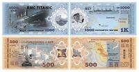 FUKUSHIMA + TITANIC Lot of 2 NOTES, Fantasy, Disaster series