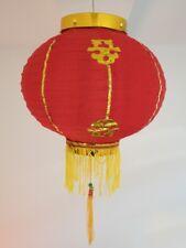4 rote Lampions original aus China  25 cm - für drinnen und draussen
