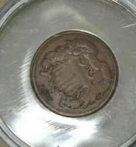 1870 US 2 Cent Piece US Type Coin