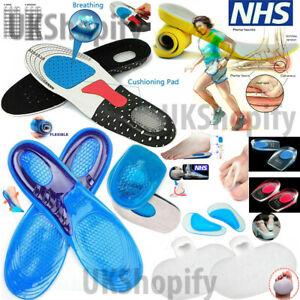 Memory Foam Orthopaedic Unisex Shoe Insoles Pads Trainer Foots Feet Comfort Heel