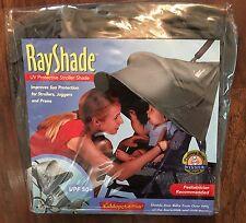 NEW Kiddopotamus Rayshade UV Protective Stroller Shade Cover Gray SPF 50+