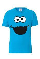 Krümelmonster -Sesamstrasse -Face- Cookie Monster - T-Shirt - türkis - LOGOSHIRT