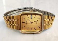Pulsar Gold Tone Stainless Steel Men's Wristwatch w/ Day & Date Window ~12-G2527