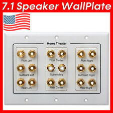 Speaker Wall Plate 7.1 Surround Sound System Home Theater WallPlate Face Plate