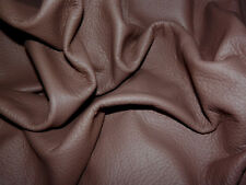 "Soft Medium Brown Cowhide Leather Scraps 5""x13.5"" avg 1mm thick #6222"