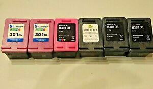 HP301XL empty, used ink cartridges x 6