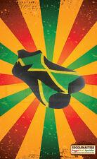 JAMAICA FLAG BLACK YELLOW GREEN TRAINER SOCKS ROOTS RASTA REGGAE