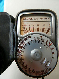 SANGAMO WESTON Euro-MASTER Light meter with INVACONE dome and cases