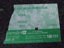 UEFA CUP 1985/86 - Sporting C.P. / A.F.C. Ajax - Used Ticket stub