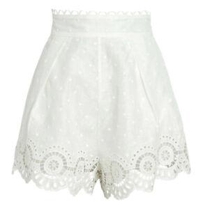 New ZIMMERMANN Bellitude Scalloped High-Waist Shorts Size 1 (US 6) MSRP $375
