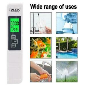 Digital PH Meter+ LCD TDS EC Water Purity PPM Filter Tester Hydroponic Pool X0Z4